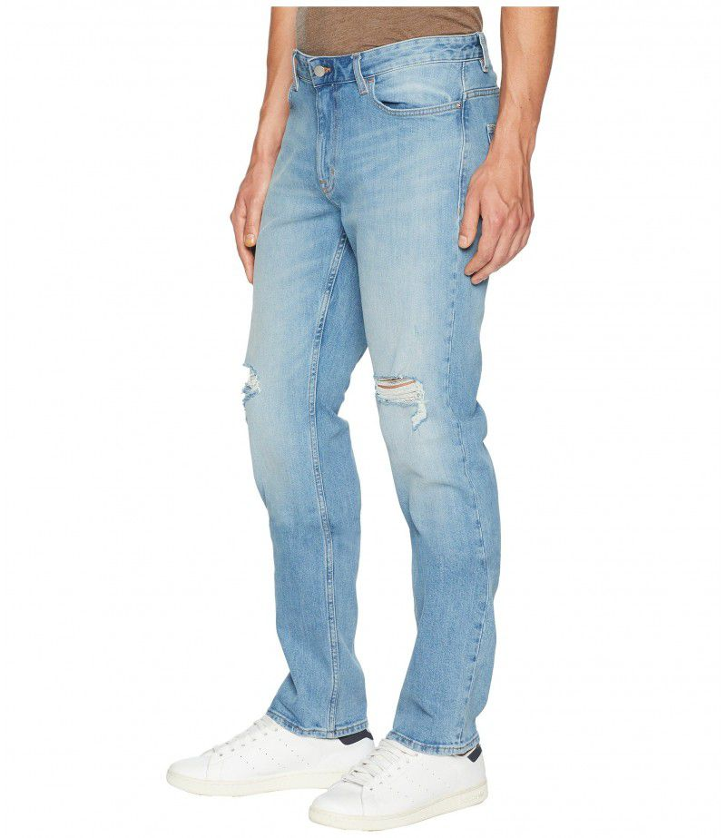Calvin Klein Jeans Slim Straight Fit Jeans in Divisadero Blue Wash
