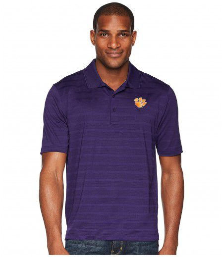 Champion College Clemson Tigers Textured Solid Polo