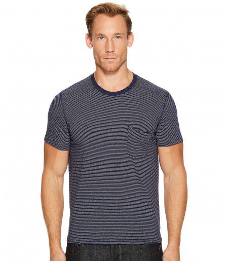 7 For All Mankind Short Sleeve Stripe Ringer Tee