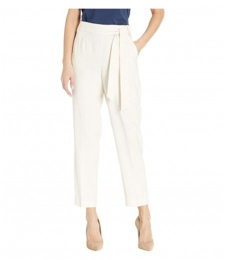 1.STATE Flat Front Tie Waist Slim Pants
