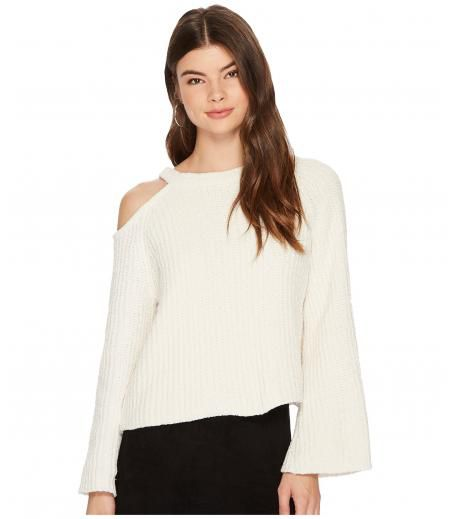 1.STATE Bell Sleeve Sweater with Shoulder Cut Out