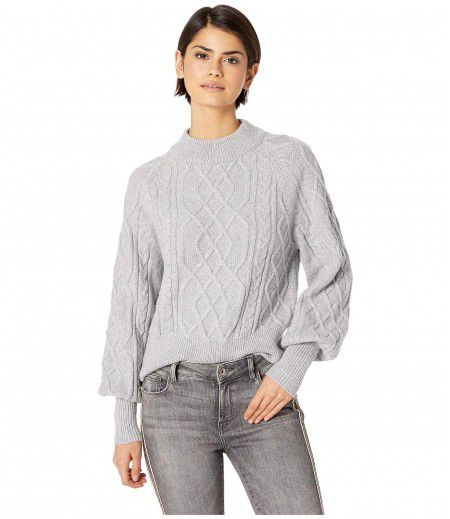 1.STATE Crew Neck Mixed Cable Sweater