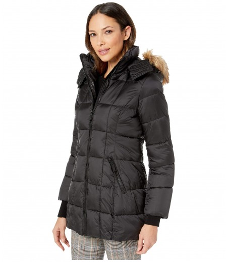 Marc New York by Andrew Marc Box Quilted Shine Puffer Jacket