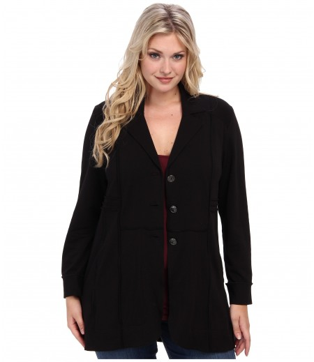 NIC+ZOE Plus Size Seamed Riding Jacket