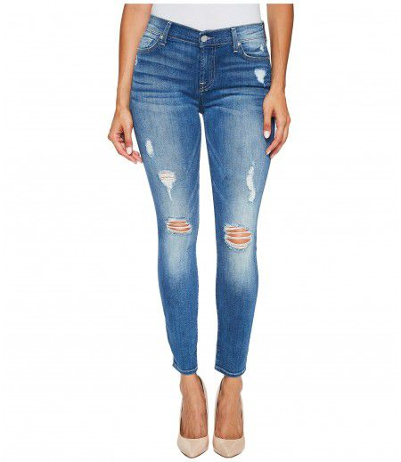 7 For All Mankind Ankle Skinny Jeans w/ Destroy in Radient Pier