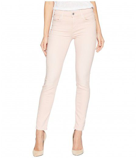 7 For All Mankind Ankle Skinny in Pink Tint Sandwashed Twill
