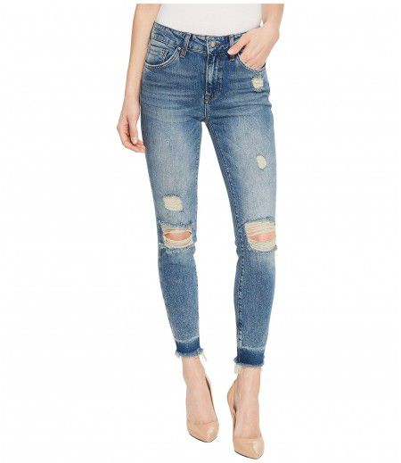 Mavi Jeans Tess High-Rise Super Skinny Ankle in Shaded Ripped Vintage