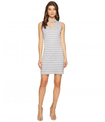 1.STATE Bar Neck Shift Dress