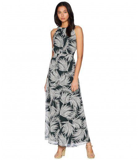 1.STATE Gathered Neck Maxi Dress with Tie Back