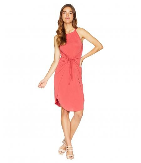 1.STATE Halter Neckline Tie Front Knit Dress